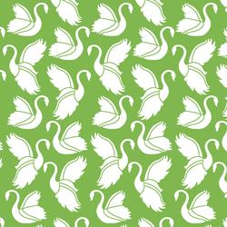 Swan Silhouette in Greenery