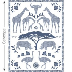 Zambezi Quilt Panel in Midnight