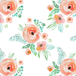 Small Summer Bouquet in Coral