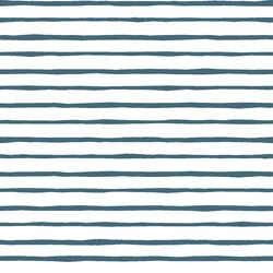 Artisan Stripe in Lake on White