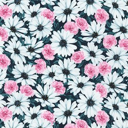 Daisy Field in Teal