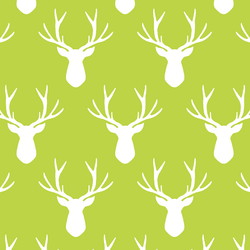 Stag Silhouette in Lime