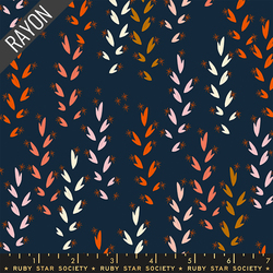 Wheat Rayon in Navy