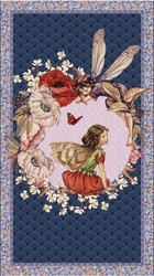 Elderberry Flower Fairies Panel in Multi