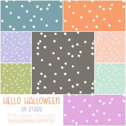 Hello Halloween Fat Quarter Bundle in Stars