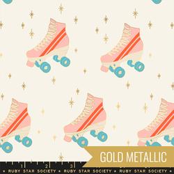 Rollerskates in Buttercream Metallic
