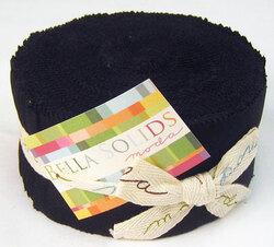 Bella Solids Jelly Roll in Black