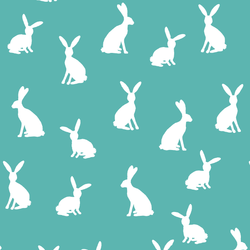 Cottontail Silhouette in Seafoam