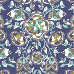 Stitch Floral in Indigo