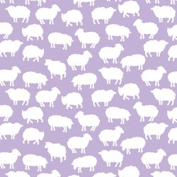 Sheep Silhouette in Lilac