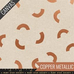 Hills Canvas in Copper Metallic Unbleached