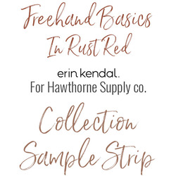 Freehand Basics Low Volume Sample Strip in Rust Red