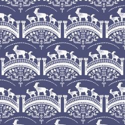 Billy Goats Gruff in Indigo
