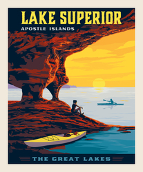 Poster Panel in Lake Superior