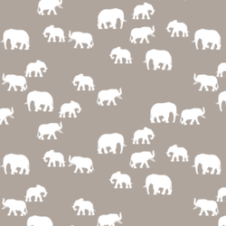 Elephant Silhouette in Taupe