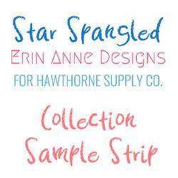 Star Spangled Sample Strip