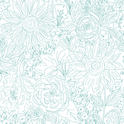 Paperie in Bright Spearmint Green on White