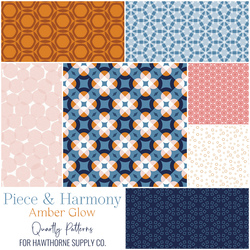 Piece and Harmony Fat Quarter Bundle in Amber Glow