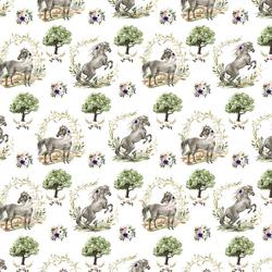 Small Royal Horses in Garden