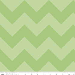 Large Chevron Tone on Tone in Green