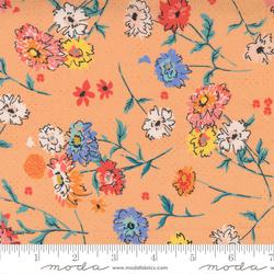 Full Bloom Floral Tossed Flowers in Peach