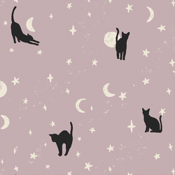 Large Moonstruck Cats in Lilac