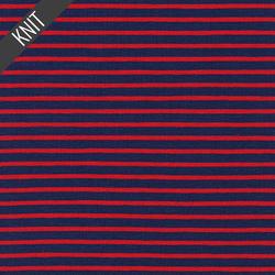 Harbor Stripe Jersey Knit in Regatta