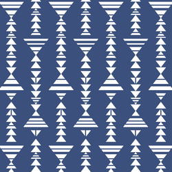 Tribal Stripe in Dark Blue Jay