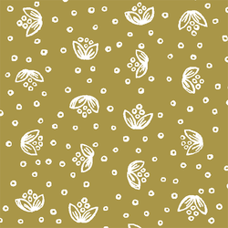 Scatter Floral in Gold