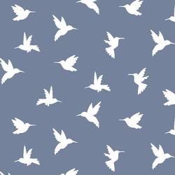 Hummingbird Silhouette in Dove