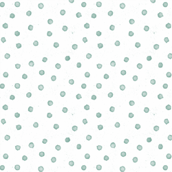 Splatter Dot in Aqua on White