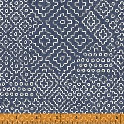 Stitch Sampler in Denim