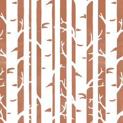 Birches in Terracotta