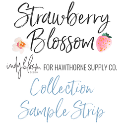 Strawberry Blossom Sample Strip