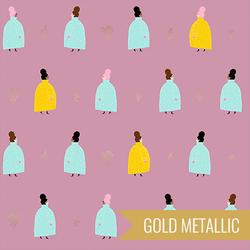 Coat Ladies in Plum Metallic