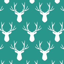 Stag Silhouette in Jade