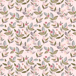 Little Tossed Floral in Soft Blush