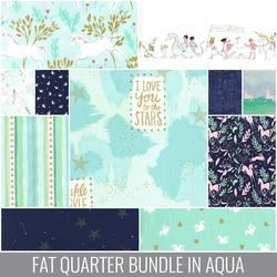 Magic Fat Quarter Bundle in Aqua
