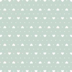 Heart Dots in Spearmint