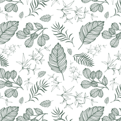 Foliage in Cactus Green in White