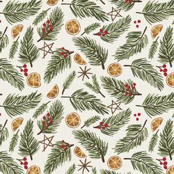 Festive Christmas in Pine Sprigs