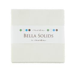 Bella Solids Charm Pack in Porcelain