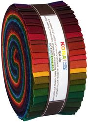 """Kona Solid 2.5"""" Strip Roll in Dark"""