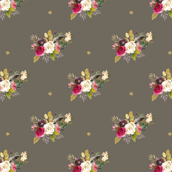 Large Woodland Bouquet in Dark Taupe