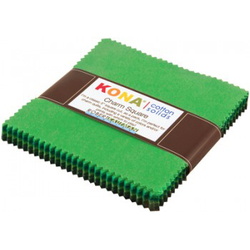 """Kona Solid 5"""" Square Pack in Wondrous Woods"""