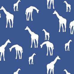 Giraffe Silhouette in Blue Jay