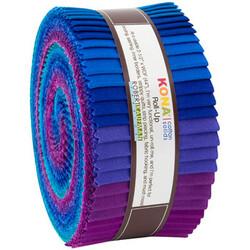 "Kona Solid 2.5"" Strip Roll in Peacock"