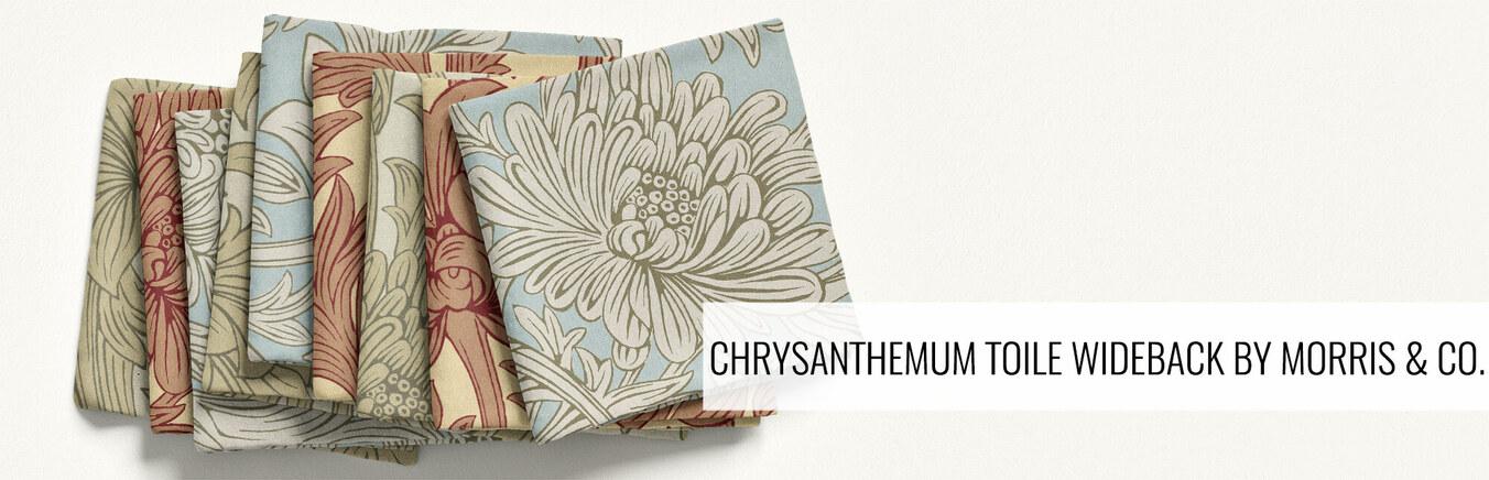 Chrysanthemum Toile Quilt Back