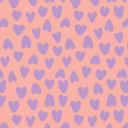 Large Valentine's Heart in Lavender and Pink