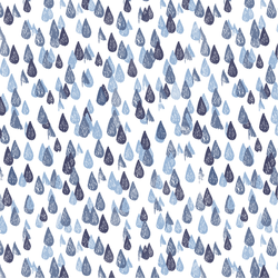 Raindrops in Indigo
